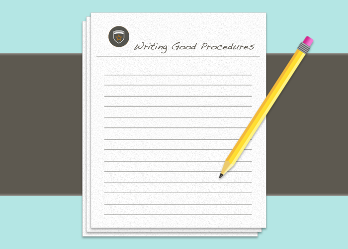 Writing Good Procedures