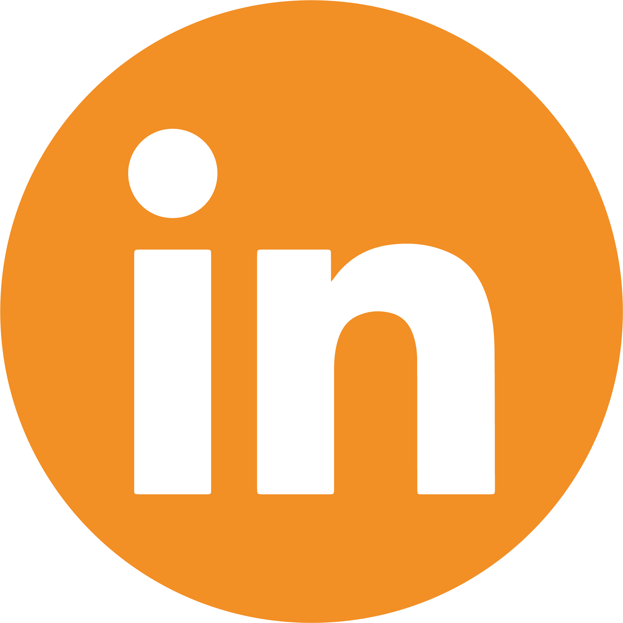LinkedIn social media button